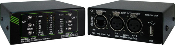 Model 5205 Mic/Line to Dante® Interface