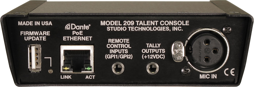 Model 209 Talent Console